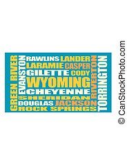 Wyoming state cities list - Image relative to USA travel...