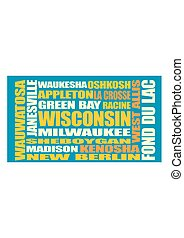 Wisconsin state cities list - Image relative to USA travel....