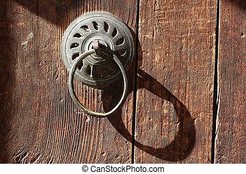 vieux, bois, porte,