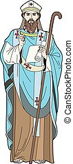 Pope - Vector illustration of a clergyman