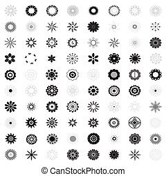 Flower icon, Collection of flowers, vector illustration