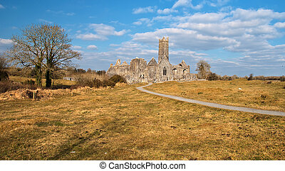 old irish ancient ruins west of ireland