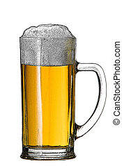 illustration of beer glass on the white background