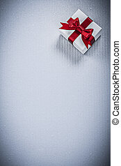 Packed present box on white background copyspace holidays...