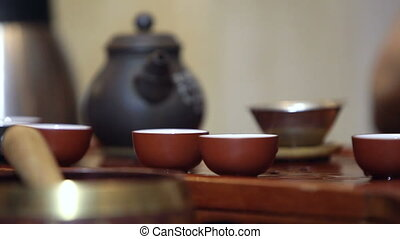 Traditional chinese tea ceremony - Photo in the room Chinese...