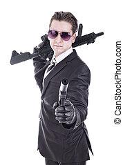 segredo, agente, or, terrorista,