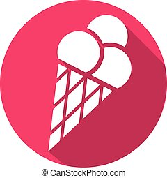ice cream cone flat icon