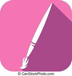 paint brush flat icon