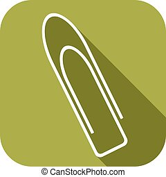 paper clip flat icon