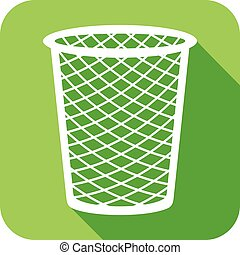 recycle bin flat icon (wastebasket) - recycle bin flat icon...