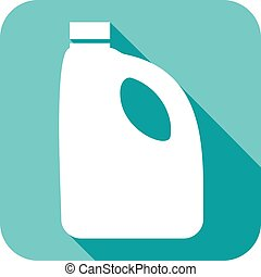 Laundry Detergent Clipart eps vector of white bottle for liquid laundry detergent. - white