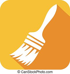 paint brush flat icon