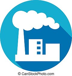 industrial factory flat icon - industrial plant flat icon...
