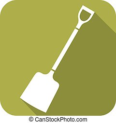 shovel flat icon