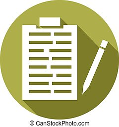 medical records and pencil icon