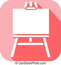canvas on an easel flat icon
