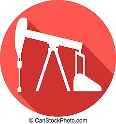 oil pump jack flat icon pumpjack button icon, pump jack...