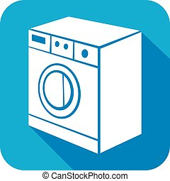 washing machine flat icon