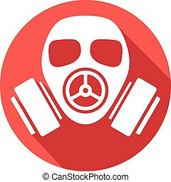 gas mask flat icon gas mask warning sign, army gas mask...