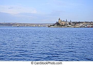 View of Sevastopol bay in summerCrimea