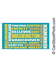 Washington state cities list - Image relative to USA travel...