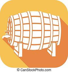 beer barrel flat icon
