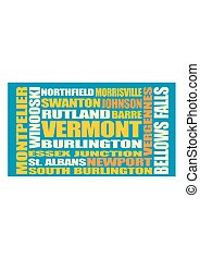 Vermont state cities list - Image relative to USA travel...