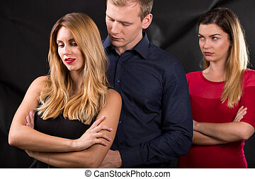 Man with mistress - Photo of man with mistress and his...