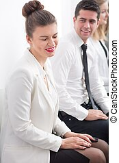 Ambitious woman before interview - Picture of ambitious...