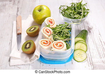 sandwich wrap, lunch box