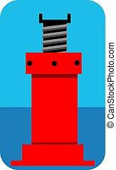 car lifting jack - Illustration of a car lifting jack