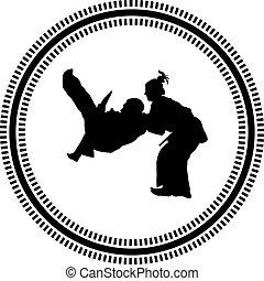 judo, marcial, arte,