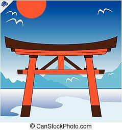 Japan gate torii