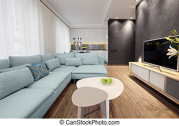 Interior - sitting room - Interior - modern design of a...