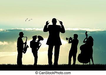 symphony orchestra - illustration of symphony orchestra