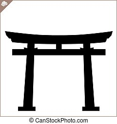 Japan gate torii. Vector. EPS