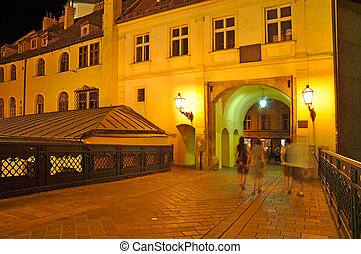 Historic landmark in the Old Town of Bratislava - Michaels...