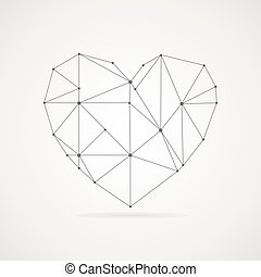 Heart vector - The frame of the heart. Vector illustration