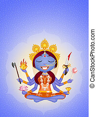 Goddess Kali - illustration of Goddess Kali