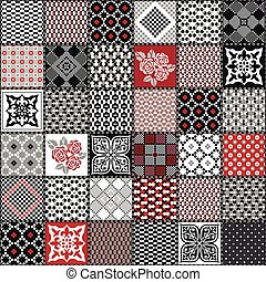 Creative seamless patchwork pattern