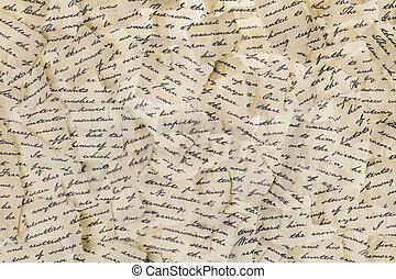 Torn letters - Background made of torn letters Please note:...
