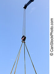 pulley with sturdy steel cables - giant pulley with sturdy...