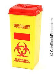 Bio Hazard Disposable Box Isolated on White