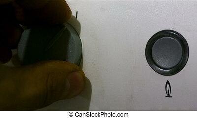 hand turn on boiler - hand turn on gas boiler