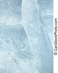 Glacial block of ice closeup - Melting glacial block of ice...