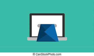 Email icon design, Video Animation HD1080