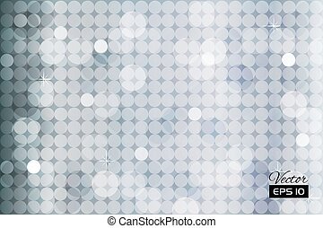 Abstract silver background with circles