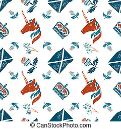 Scottish seamless pattern