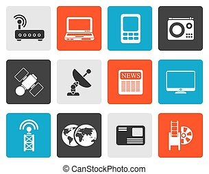 technology communications icons
