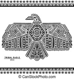 Native American eagle illustration